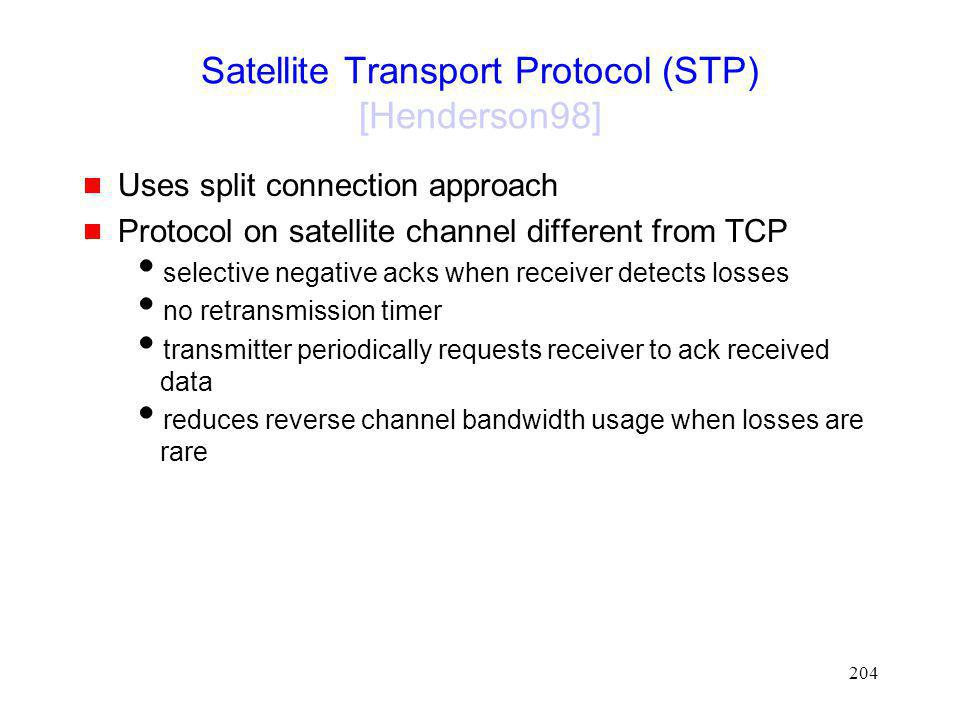 Satellite Transport Protocol (STP) [Henderson98]